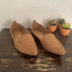 Lulu's | Emmy pointed toe flats camel color suede